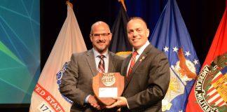 Mario Burgos receives SAME Small Business Award in 2017.