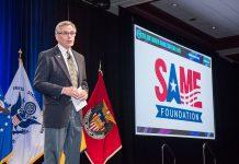 SAME Foundation President John Mogge introduces the Society's first Leader Development Program class