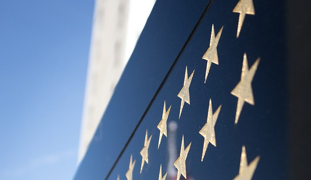 Stars on Navy SEAL monument wall.