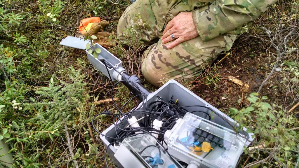 technician in the wilderness