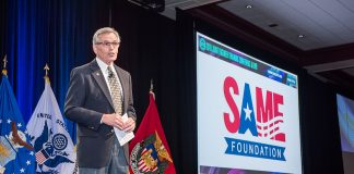 SAME Foundation President John Mogge introduces the Society's first Leader Development Program class