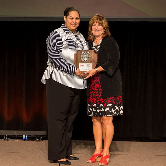 Siokey Gastelum-Galvez receives Small Business Council Appreciation Award