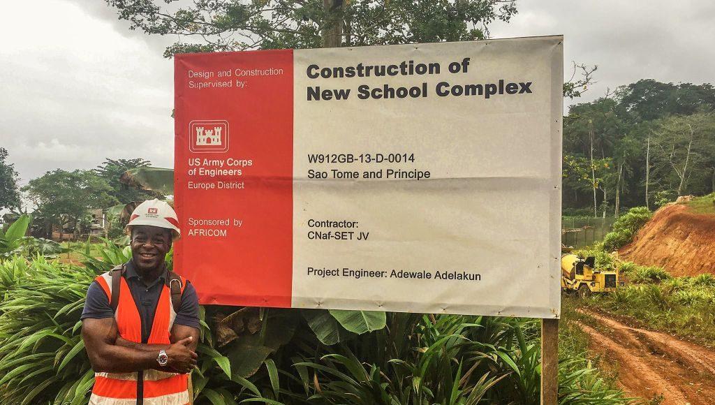 New school construction underway.